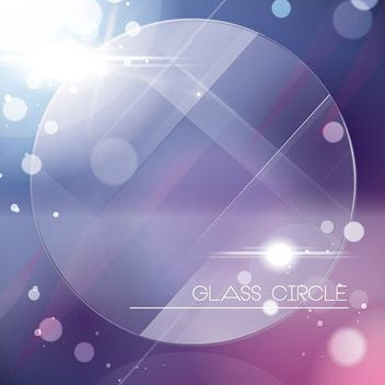 Fluorescent Glassy Circle Purple Background - vector gratuit(e) #162861