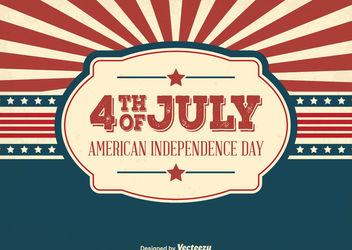 USA Independent Day Greeting Card - Kostenloses vector #162871