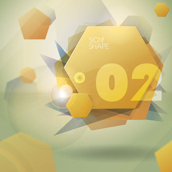 Abstract Hexagon Cubes Background - Free vector #162961