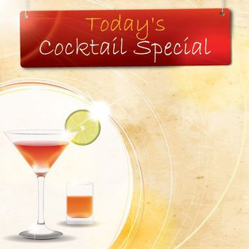 Cocktail Special Party Poster - Free vector #162981