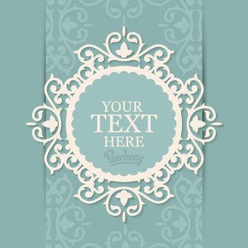 Decorative Floral Frame Invitation Card - Kostenloses vector #163021