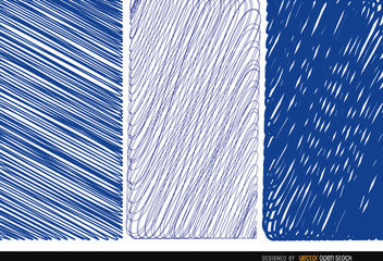 3 pen blue textures - Free vector #163201