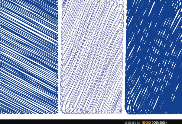 3 pen blue textures - Free vector #163201