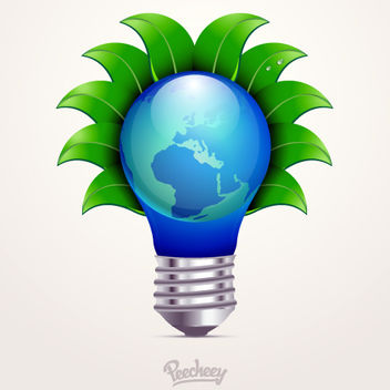 Eco Concept Idea Bulb - Free vector #163221