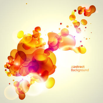 Fluorescent Colorful Bubbles Orangey Background - vector gratuit #163251