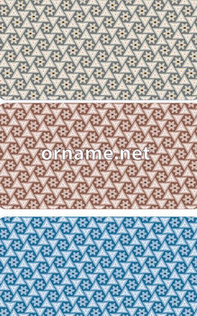 Stars & Triangles Persian Pattern - Free vector #163351
