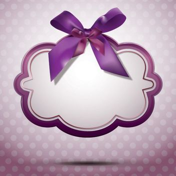Decorative Message Box with Ribbon - vector gratuit #163391