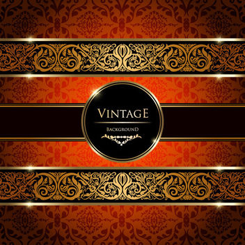 Colorful Vintage Damask Ornate Background - Free vector #163511