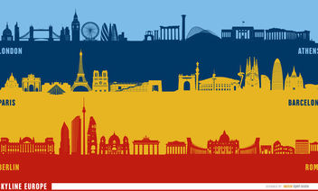 European landmarks skyline - Free vector #163571