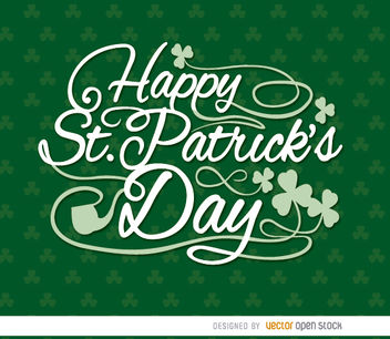 Happy St. Patrick's shamrocks wallpaper - Free vector #163641