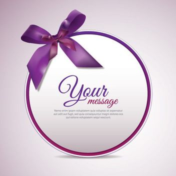 Circular Purple Ribbon Banner - vector gratuit #163651