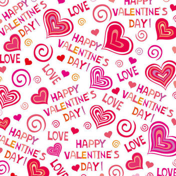 Hand Drawn Valentine Pattern - vector gratuit #163791