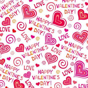 Hand Drawn Valentine Pattern - бесплатный vector #163791
