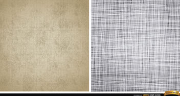 Two canvas texture patterns - vector gratuit #164081