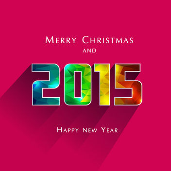 2015 Colorful Polygonal Textured New Year Typography - vector gratuit #164231