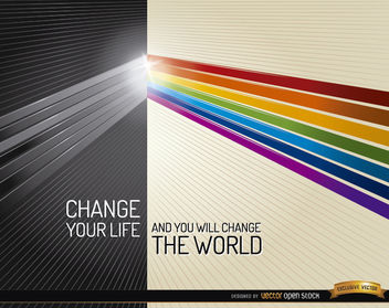 Darkness light colors life change - Free vector #164301