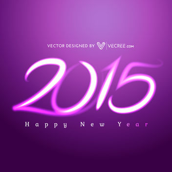 Creative Purple Light 2015 Typography - Free vector #164401