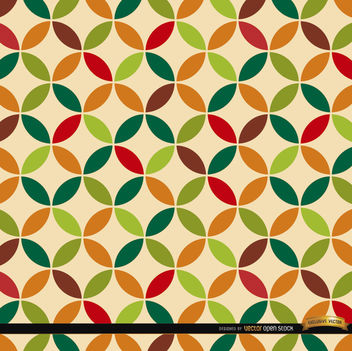 Leaf circles pattern background - vector #164531 gratis