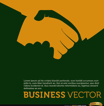 Business handshake orange background - Free vector #164611