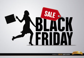 Black Friday sale woman - Free vector #164721