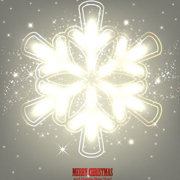 Glowing Arrow Formed Snowflake Grey Background - Free vector #164731