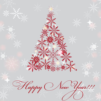 Snowflake Christmas Tree New Year Background - Free vector #164801