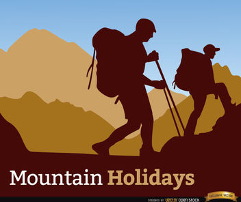 Mountaineering holidays background - Free vector #164951