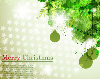 Tree Branch Corner Christmas Background - vector gratuit #164961
