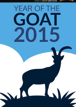 2015 Year of Goat poster - vector gratuit(e) #165131