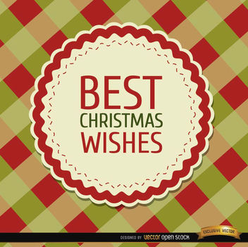 Christmas wishes rhombs background - Free vector #165201
