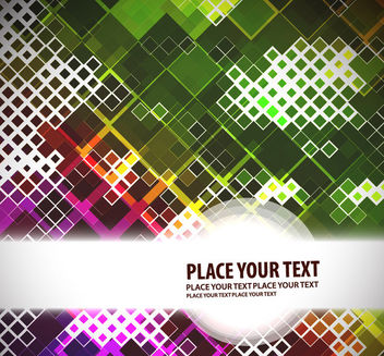 Abstract Mosaic Squares Colorful Background - Free vector #165471