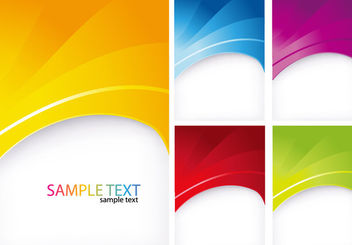 Abstract Cutting Edge Curvy Background - vector gratuit #165701