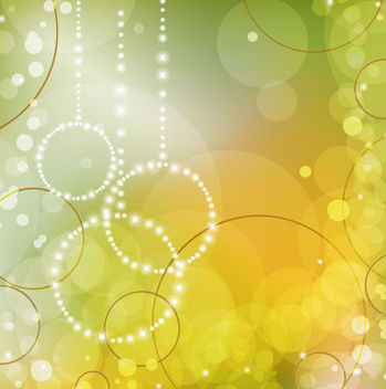 Abstract Bokeh Circles Green Background - vector gratuit #165811
