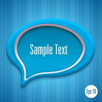 Blue Talking Bubble Background Template - vector gratuit #165951