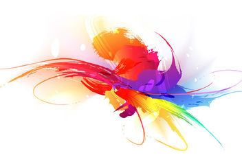 Grungy Colorful Splash and Scratches - Free vector #165991