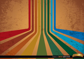 Abstract retro colorful stripes background - Free vector #166001