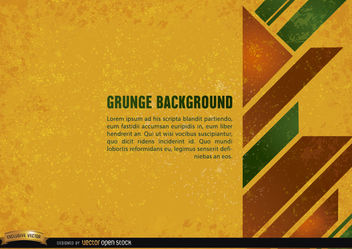 Grunge yellow background with geometric shapes - vector #166081 gratis