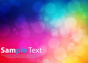 Colorful Background with Bokeh Bubbles - vector gratuit #166111