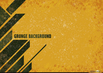 Yellow grunge background with modern stripes - vector gratuit #166171