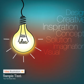 Funky Idea Bulb Info-graph Background - Free vector #166261