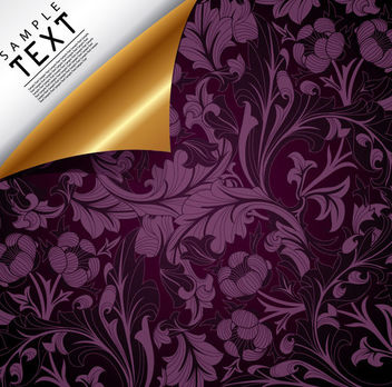 Luxury Floral Background with Curly Corner - vector #166351 gratis