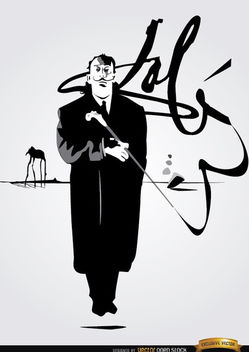 Salvador Dali painting signature - Free vector #166471