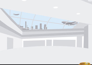Inside airport hall background - vector gratuit(e) #166481