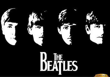 With The Beatles album wallpaper - vector gratuit #166531
