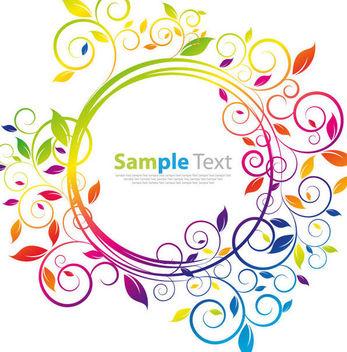 Simplistic Rainbow Floral Circular Frame - vector #166561 gratis