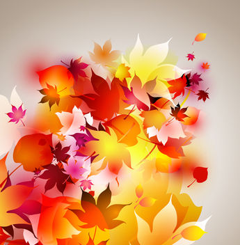 Glowing Autumn Leaves Background - Free vector #166671