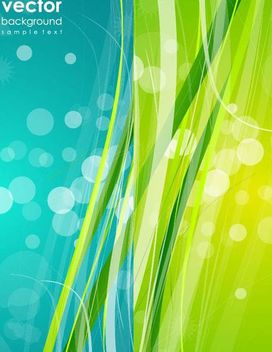 Swirling Nature Background with Bokeh Circles - Free vector #166731