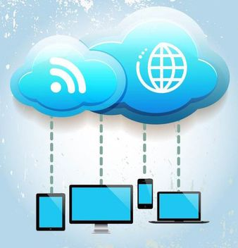 Cloud Computing Concept Info-graph - Free vector #166811