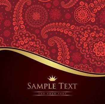 Vintage Paisley Pattern Cutting Edge Background - Free vector #166821