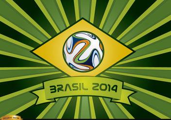Brasil 2014 ribbon and beams background - Free vector #166871